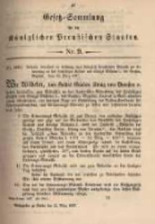 Gesetz-Sammlung für die Königlichen Preussischen Staaten. 1897.03.22 No9