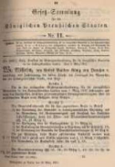 Gesetz-Sammlung für die Königlichen Preussischen Staaten. 1897.03.30 No11