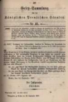 Gesetz-Sammlung für die Königlichen Preussischen Staaten. 1897.09.28 No41