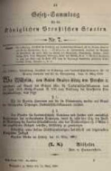 Gesetz-Sammlung für die Königlichen Preussischen Staaten. 1899.03.21 No7