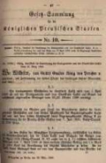 Gesetz-Sammlung für die Königlichen Preussischen Staaten. 1899.03.29 No10