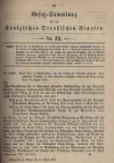 Gesetz-Sammlung für die Königlichen Preussischen Staaten. 1899.04.11 No12