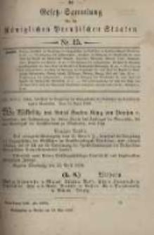 Gesetz-Sammlung für die Königlichen Preussischen Staaten. 1899.05.13 No15