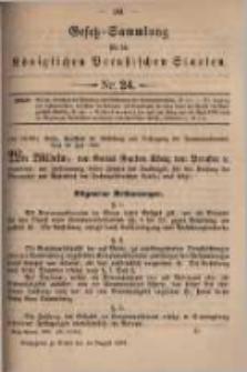 Gesetz-Sammlung für die Königlichen Preussischen Staaten. 1899.08.14 No24