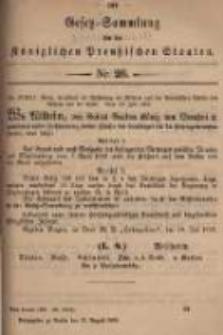 Gesetz-Sammlung für die Königlichen Preussischen Staaten. 1899.08.23 No26