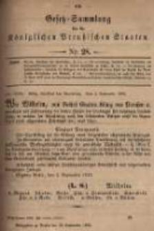 Gesetz-Sammlung für die Königlichen Preussischen Staaten. 1899.09.12 No28
