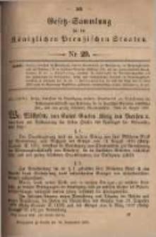 Gesetz-Sammlung für die Königlichen Preussischen Staaten. 1899.09.20 No29