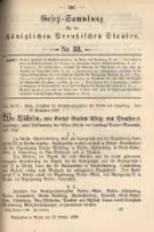 Gesetz-Sammlung für die Königlichen Preussischen Staaten. 1899.10.13 No33