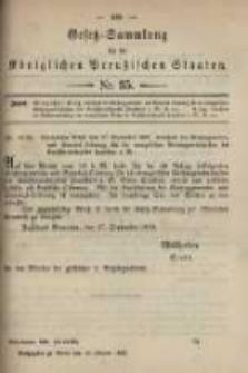 Gesetz-Sammlung für die Königlichen Preussischen Staaten. 1899.10.19 No35