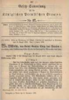 Gesetz-Sammlung für die Königlichen Preussischen Staaten. 1899.11.14 No37