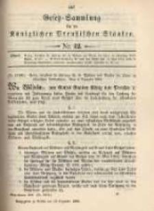 Gesetz-Sammlung für die Königlichen Preussischen Staaten. 1899.12.19 No42