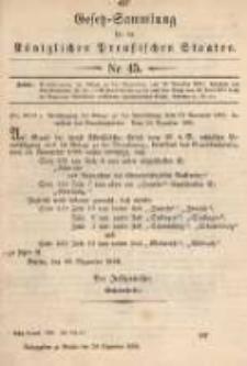 Gesetz-Sammlung für die Königlichen Preussischen Staaten. 1899.12.29 No45