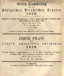 Gesetz-Sammlung für die Königlichen Preussischen Staaten. 1850.01.22 No1