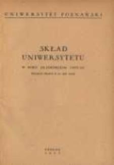 Uniwersytet Poznański: skład Uniwersytetu w roku akademickim 1952/53 według stanu z 31 XII 1952
