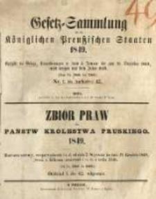 Gesetz-Sammlung für die Königlichen Preussischen Staaten. 1849.01.08 No1