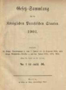 Gesetz-Sammlung für die Königlichen Preussischen Staaten. 1901.01.12 No1