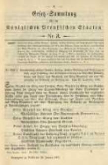 Gesetz-Sammlung für die Königlichen Preussischen Staaten. 1901.01.30 No3