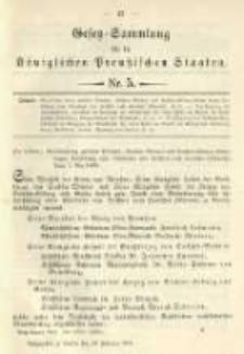 Gesetz-Sammlung für die Königlichen Preussischen Staaten. 1901.02.26 No5