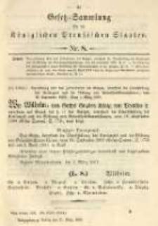 Gesetz-Sammlung für die Königlichen Preussischen Staaten. 1901.03.21 No8