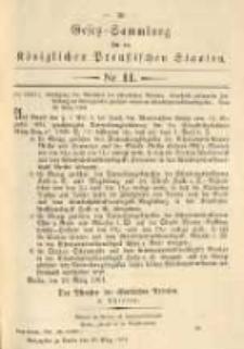 Gesetz-Sammlung für die Königlichen Preussischen Staaten. 1901.03.30 No11