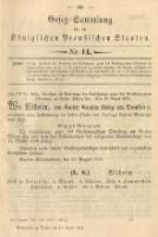Gesetz-Sammlung für die Königlichen Preussischen Staaten. 1901.04.10 No14