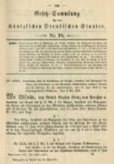Gesetz-Sammlung für die Königlichen Preussischen Staaten. 1901.05.24 No18