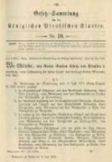 Gesetz-Sammlung für die Königlichen Preussischen Staaten. 1901.06.03 No19