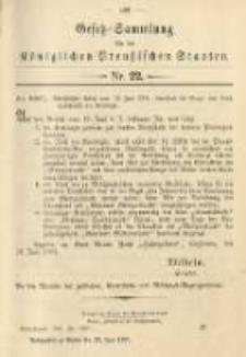 Gesetz-Sammlung für die Königlichen Preussischen Staaten. 1901.06.29 No22