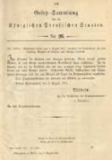 Gesetz-Sammlung für die Königlichen Preussischen Staaten. 1901.08.06 No26