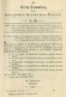 Gesetz-Sammlung für die Königlichen Preussischen Staaten. 1901.09.27 No30