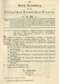 Gesetz-Sammlung für die Königlichen Preussischen Staaten. 1901.11.29 No34
