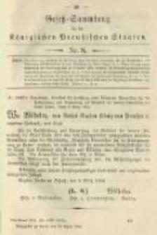 Gesetz-Sammlung für die Königlichen Preussischen Staaten. 1904.04.29 No8