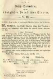 Gesetz-Sammlung für die Königlichen Preussischen Staaten. 1904.05.30 No12