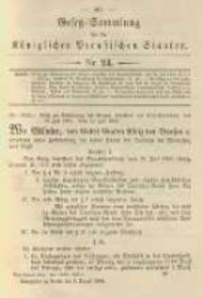 Gesetz-Sammlung für die Königlichen Preussischen Staaten. 1904.08.03 No24