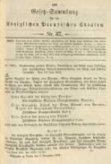 Gesetz-Sammlung für die Königlichen Preussischen Staaten. 1904.11.05 No37