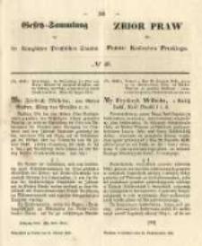 Gesetz-Sammlung für die Königlichen Preussischen Staaten. 1848.10.16 No46