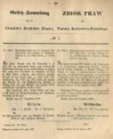 Gesetz-Sammlung für die Königlichen Preussischen Staaten. 1867.01.25 No7
