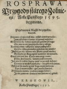Rosprawa przygody starego zolnierza Roku Pańskiego 1595 uczyniona