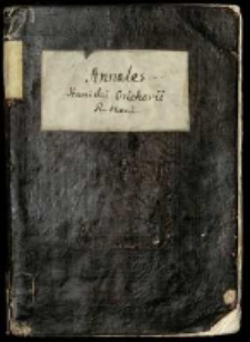 Annales Stanislai Orichovii ab excessu Sigismundi I