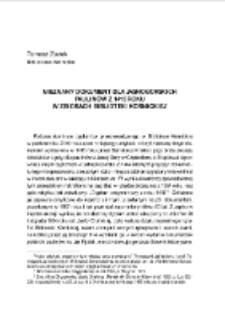 Nieznany dokument dla jasnogórskich paulinów z 1415 roku w zbiorach Biblioteki Kórnickiej. Pamiętnik Biblioteki Kórnickiej. Z.34.