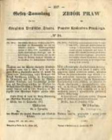 Gesetz-Sammlung für die Königlichen Preussischen Staaten. 1872.10.21 No38