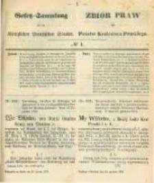 Gesetz-Sammlung für die Königlichen Preussischen Staaten. 1874.01.13 No1