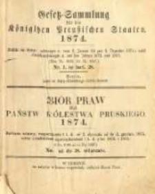 Gesetz-Sammlung für die Königlichen Preussischen Staaten. 1874.01.31 No3