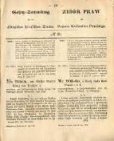 Gesetz-Sammlung für die Königlichen Preussischen Staaten. 1874.07.25 No20