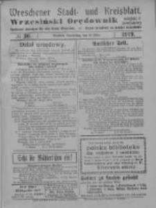 Wreschener Stadt und Kreisblatt; Wrzesiński Orędownik miejski i powiatowy: amtlicher Anzeiger für den Kreis Wreschen; organ urzędowy na powiat wrzesiński 1919.03.13 Nr30