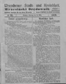 Wreschener Stadt und Kreisblatt; Wrzesiński Orędownik miejski i powiatowy: amtlicher Anzeiger für den Kreis Wreschen; organ urzędowy na powiat wrzesiński 1919.03.25 Nr35