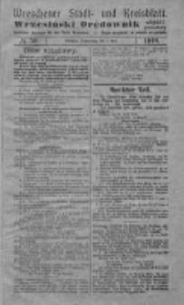 Wreschener Stadt und Kreisblatt; Wrzesiński Orędownik miejski i powiatowy: amtlicher Anzeiger für den Kreis Wreschen; organ urzędowy na powiat wrzesiński 1919.05.01 Nr50