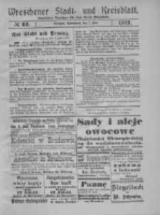 Wreschener Stadt und Kreisblatt: amtlicher Anzeiger für den Kreis Wreschen 1919.06.07 Nr66