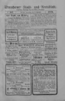 Wreschener Stadt und Kreisblatt: amtlicher Anzeiger für den Kreis Wreschen 1919.09.11 Nr107
