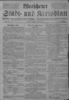 Wreschener Stadt und Kreisblatt: amtlicher Anzeiger für den Kreis Wreschen; Orędownik powiatowy dla powiatu Wrzesińskiego 1919.01.14 Nr5